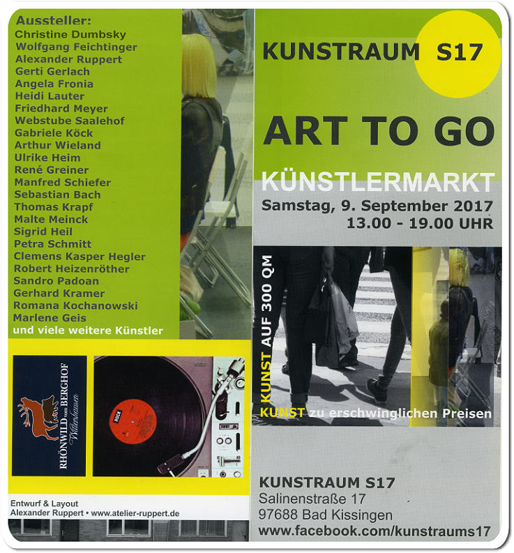 Gemeinschaftsausstellung, Ausstellung cooperation RobSky, Christine Dumbsky artists co-operation Kunstraum S17 Bad Kissingen