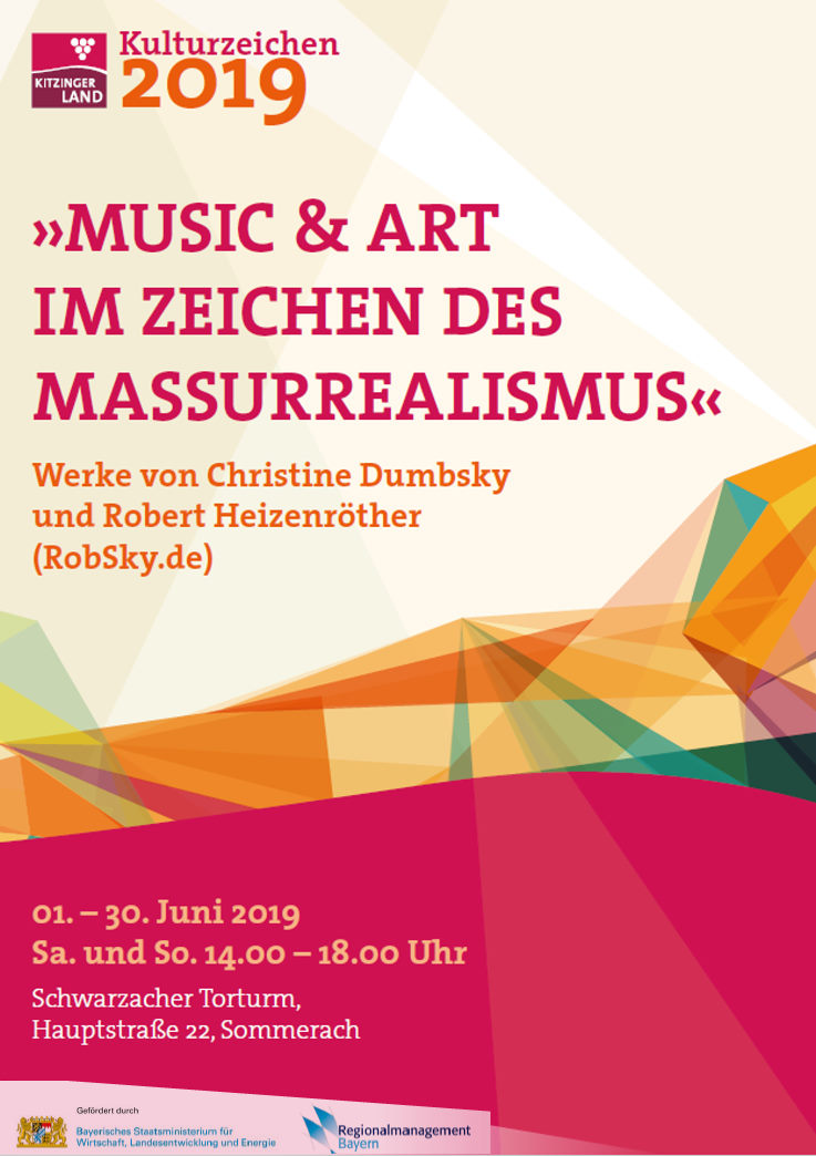 kitzinger Kulturzeichen Landkreis Kitzingen Woodstock Christine Dumbsky, Robert Heizenröther Robsky project Massurrealism artworks and music wild woodstock